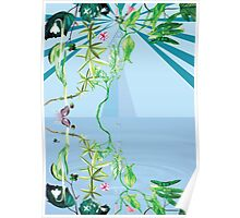 floral ornaments secret waters Poster
