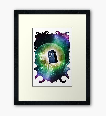 Universe Blue Box Tee The Doctor T-Shirt Framed Print