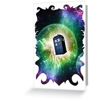Universe Blue Box Tee The Doctor T-Shirt Greeting Card