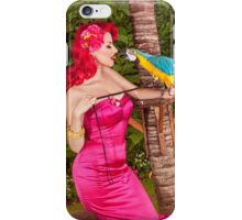 Can Parrots say Tiki? iPhone Case/Skin