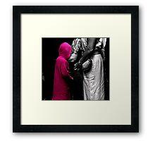 Red Girl at Wedding Framed Print