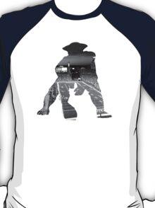 New England Patriots Stadium Black and White T-Shirt