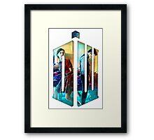 Dr. Who Fans Tee Character T-Shirt Framed Print