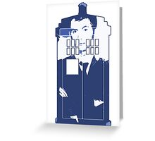 New Blue Box T-Shirt Tardis Tee Greeting Card
