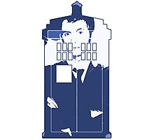 New Blue Box T-Shirt Tardis Tee Photographic Print