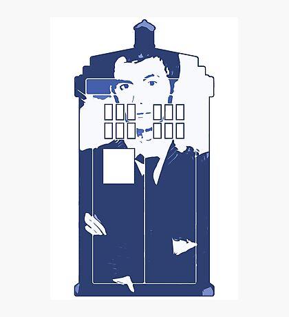 New Blue Box T-Shirt Tardis Tee Photographic Print