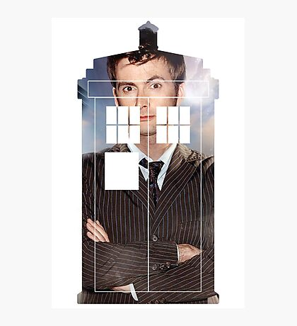 The Doctor Tee - Tardis T-Shirt Photographic Print
