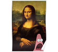 mona lisa... and patrick. Poster