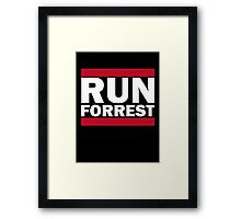 RUN FORREST Framed Print