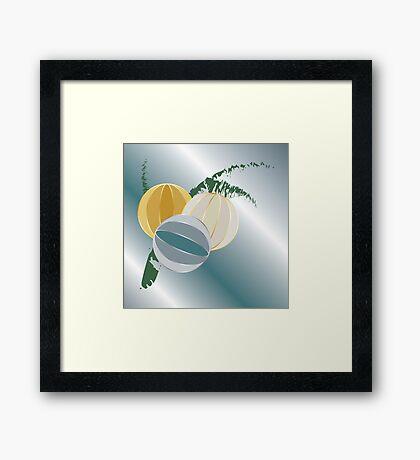 Blue rays for Christmas Framed Print