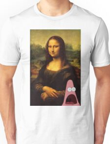 mona lisa... and patrick. Unisex T-Shirt