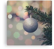 Retro Christmas Tree Decoration Canvas Print