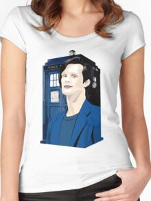 Blue Box Smith Cartoon Character Hoodie / T-shirt Women's Fitted Scoop T-Shirt