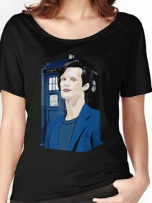 Blue Box Smith Cartoon Character Hoodie / T-shirt Women's Relaxed Fit T-Shirt