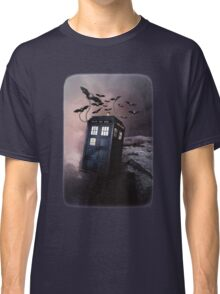 Flying Blue Box In Space Hoodie / T-shirt Classic T-Shirt