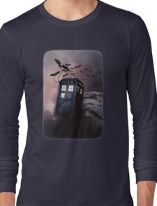 Flying Blue Box In Space Hoodie / T-shirt Long Sleeve T-Shirt