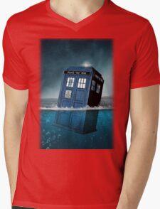 Blue Box in Water Hoodie / T-shirt Mens V-Neck T-Shirt