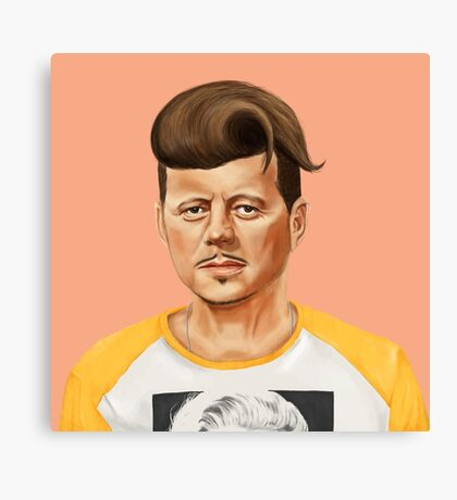 Hipstory- John F Kennedy Canvas Print