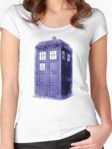 Blue Box Hoodie / T-shirt Women's Fitted Scoop T-Shirt