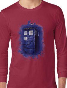 Scratch Blue Box Hoodie / T-shirt Long Sleeve T-Shirt