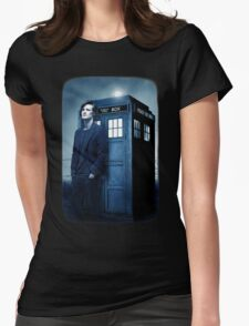 doctor smith tee Tardis Hoodie / T-shirt Womens Fitted T-Shirt