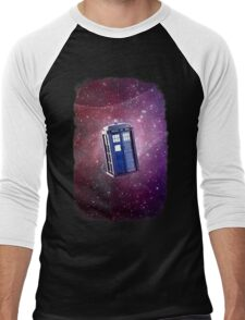 Blue Box nebula Tee Tardis Hoodie / T-shirt Men's Baseball ¾ T-Shirt