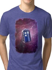 Blue Box nebula Tee Tardis Hoodie / T-shirt Tri-blend T-Shirt