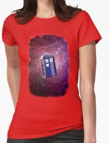 Blue Box nebula Tee Tardis Hoodie / T-shirt Womens Fitted T-Shirt