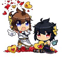 Kid Icarus - (chibi) Pit & Dark pit by Cattymadi