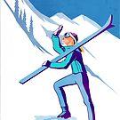 Retro Canadian Rockies Ski poster by SFDesignstudio