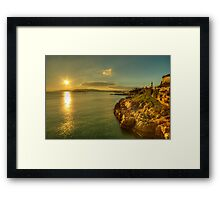 Plymouth Hoe Sunset  Framed Print