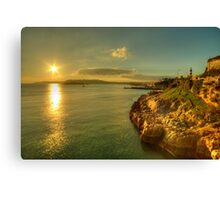 Plymouth Hoe Sunset  Canvas Print