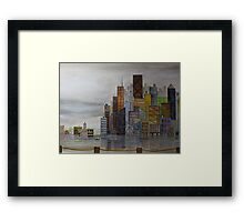 Angles and Colors of Commerce Framed Print