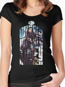 Dr. Who tardis Tee painting T-Shirt Women's Fitted Scoop T-Shirt