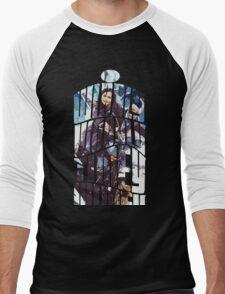 Dr. Who tardis Tee painting T-Shirt Men's Baseball ¾ T-Shirt
