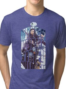 Dr. Who tardis Tee painting T-Shirt Tri-blend T-Shirt