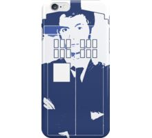 New Blue Box T-Shirt Tardis Tee iPhone Case/Skin
