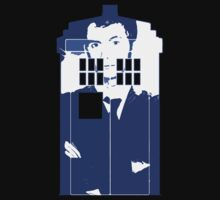 New Blue Box T-Shirt Tardis Tee by DarrellHo
