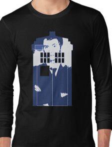 New Blue Box T-Shirt Tardis Tee Long Sleeve T-Shirt