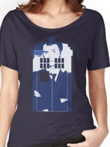 New Blue Box T-Shirt Tardis Tee Women's Relaxed Fit T-Shirt