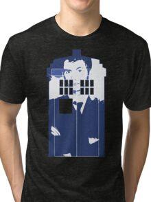 New Blue Box T-Shirt Tardis Tee Tri-blend T-Shirt