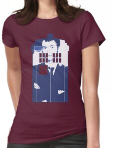 New Blue Box T-Shirt Tardis Tee Womens Fitted T-Shirt