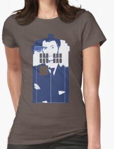 New Blue Box T-Shirt Tardis Tee Womens Fitted T-Shirt