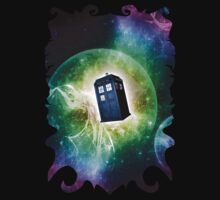 Universe Blue Box Tee The Doctor T-Shirt by DarrellHo