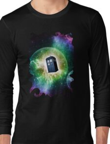 Universe Blue Box Tee The Doctor T-Shirt Long Sleeve T-Shirt