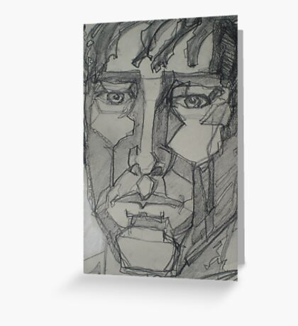 Cubist Face Greeting Card
