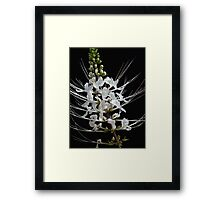 White Touch Framed Print