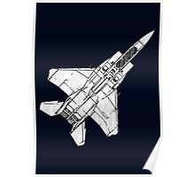 F15 Eagle Fighter Plane Poster