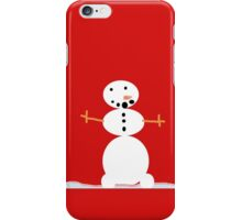The happy snowman iPhone Case/Skin