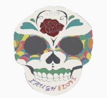love and laugh sugar skull by 324heathers